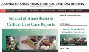 Journal of Anaesthesia and Critical Care Case Reports