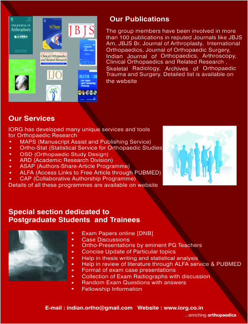 Team IORG | Indian Orthopaedic Research Group