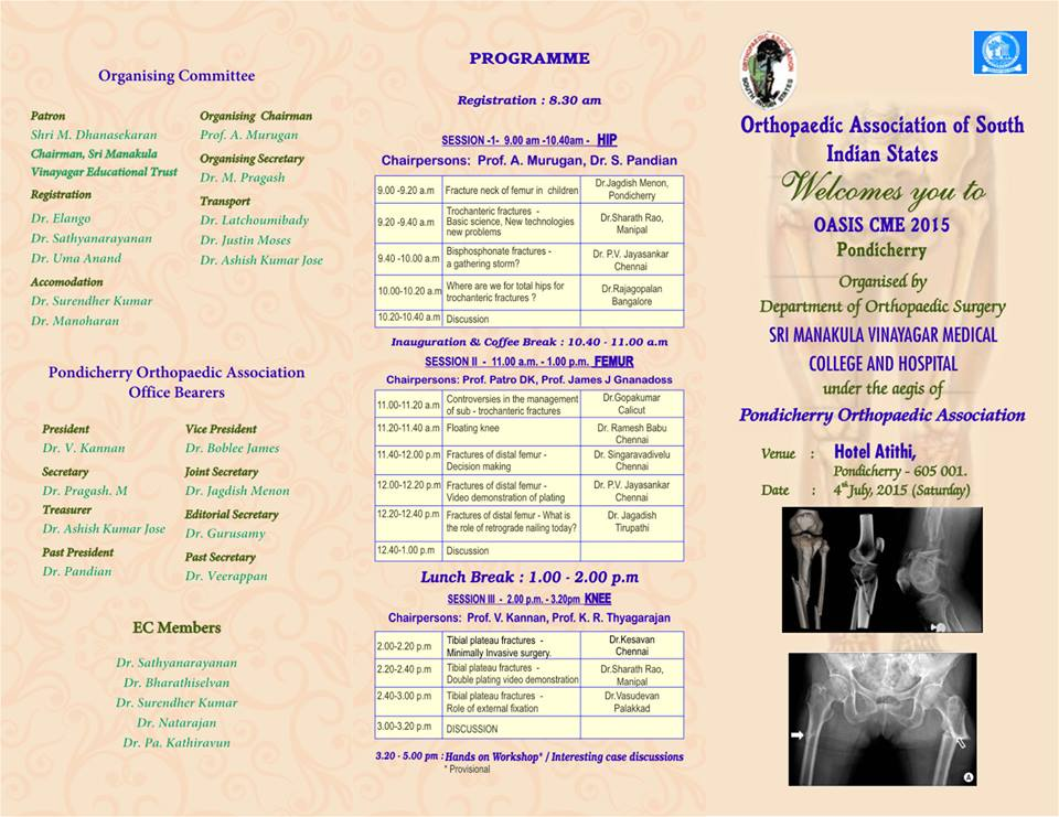 Orthopaedic Association of South Indian States | Indian