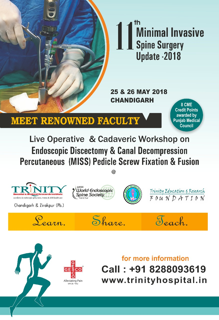 11th Minimally Invasive Spine Surgery Update -2018 | Indian